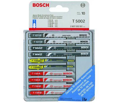 Bosch T5002 10 Piece T Shank Bi-Metal Jigsaw Blade Assortment