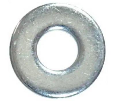 Hillman 280052 SAE Flat Washers #8 Zinc Plated Steel 100 Pack
