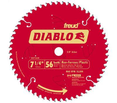 Freud D0756N Diablo 7-1/4 Inch 56 Tooth Metal Saw Blade