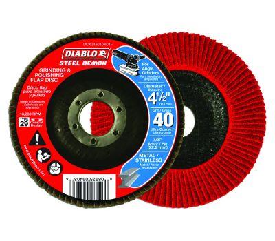 Freud DCX045040N01F Diablo Flap Disc 4-1/2 40g Cn No Hub