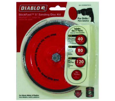 Freud DCD050KITD01G Diablo Disc Sanding Stick Fast 5 Kit