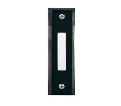 HeathCo SL-664-02 Button Push Blk Finish/Wht Btn