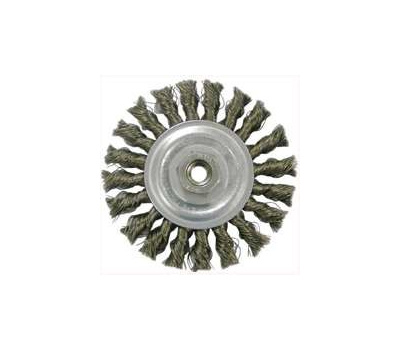 Weiler 36015 Wheel Brush 4in Knoted Corse