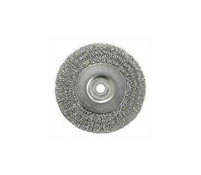 Weiler 36401 Wheel Brush 3in Crmp 1/2-3/8