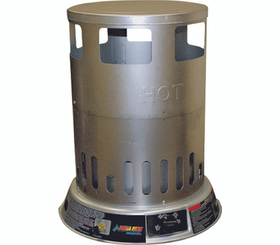 World Marketing LPC200 DuraHeat Convection Heater, Liquid Propane, 50000 to 200000 Btu, 4700 Sq-Ft Heating Area, Silver