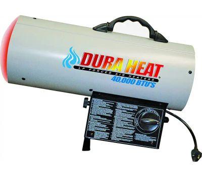 World Marketing GFA40 DuraHeat Forced Air Heater, 20 Pound Fuel Tank, Liquid Propane, 40000 Btu, 1000 Sq-Ft Heating Area, White