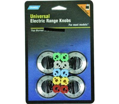 Camco 00883 Black Electric Range Burner Knobs Pack Of 4