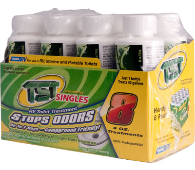Camco 40221 TST 4 Ounce Concentrated Rv Toilet Treatment Pack Of 8