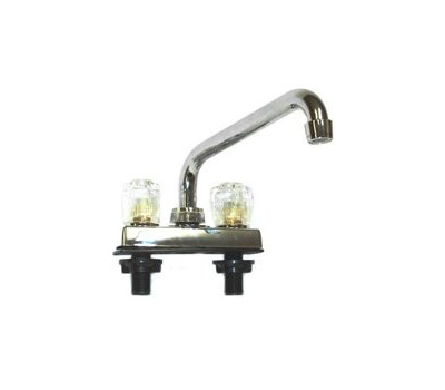 US Hardware RV-035B Deck Faucet 4 Inch Spout 8 Inch