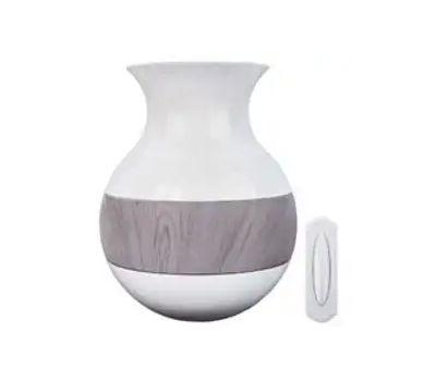 HeathCo SL-7954-03 Chime Dr Wrlss Weathwood Vase