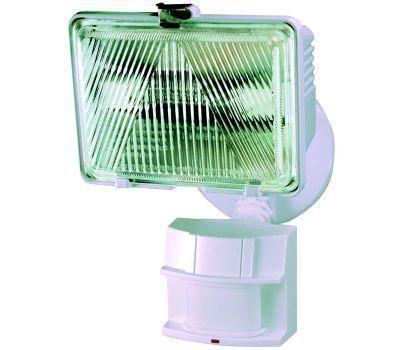 HeathCo HZ-5525-WH Heath Zenith Motion Activated Security Light, 120 V, 1-Lamp, Halogen Lamp, Metal/Plastic Fixture