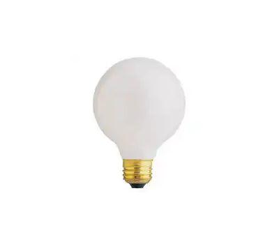 Feit Electric 40G25/W/RP 40 Watt 3-1/8 Inch Incandescent Globe Retail Pack G 25 White Medium Brass Base