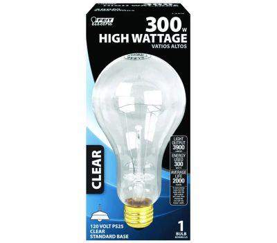 Feit Electric 300M 300 Watt Incandescent Light Bulb Ps 25 Clear Medium Base Bulb