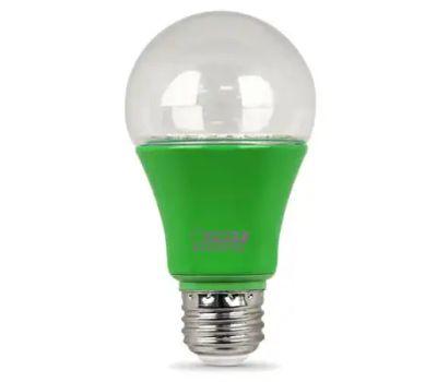 Feit Electric A19/GROW/LEDG2/BX A19/Grow/Ledg2 Led Plant Grow Light, A19 Lamp, Medium (E26) Lamp Base, Green
