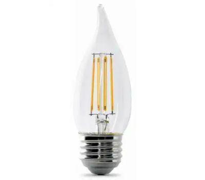Feit Electric BPEFC40/927CA/FIL Bulb Led 40w 27k Candle Dim