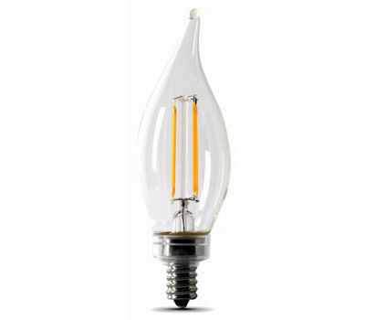 Feit Electric BPCFC60/927CA/FIL Bulb Led 60w 27k Candle Dim