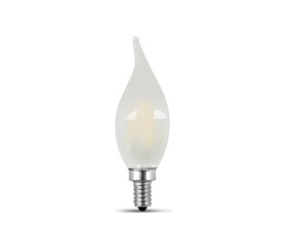 Feit Electric BPCFF60950CAFIL/2 Dimmable Flame Tip Led Light Bulb, 60 W Equivalent, Candelabra Lamp Base, Dimmable