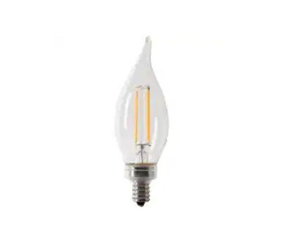 Feit Electric CFC60/950CA/FIL/6 Led Bulb, Mercury-Free, Flame Tip Lamp, 60 W Equivalent, Candelabra (E12) Lamp Base