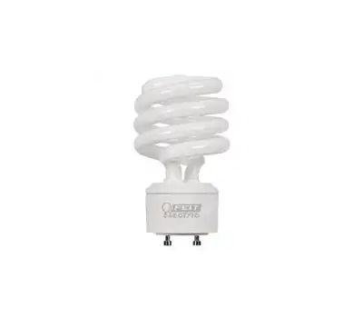 Feit Electric BPESL23TM/GU24 Compact Fluorescent Light, 23 W, A19 Spiral Lamp, Gu24 Twist and Lock Lamp Base