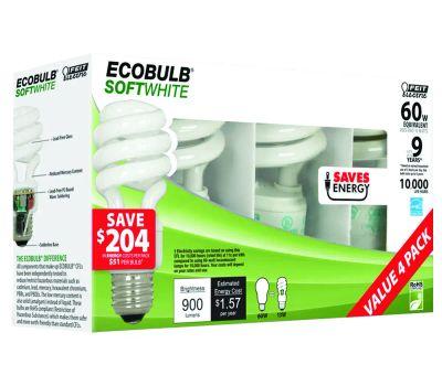 Feit Electric ESL13T/4 13 Watt Mini Twist Compact Fluorescent 60 Watt Equiv