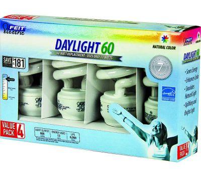 Feit Electric ESL13T/D/4 13 Watt Compact Fluorescent Daylight 4 Pack