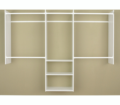 Stow RB1460 Deluxe Starter Closet, 48 to 96 in W, 84 in H, 3-Shelf