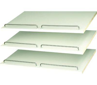 Stow RS1600 Shoe Shelf With Rail, 3-Shelf, 24 in W