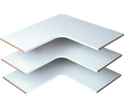 Stow RS3003 Shelves Corner White 14in 3pk