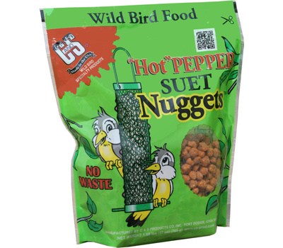 C&S CS06107 Suet Nuggets Hot Pepper 27 Ounce