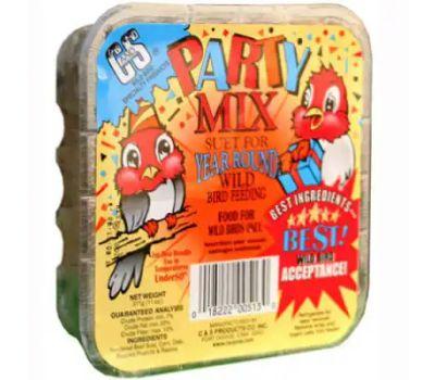 C&S 12513 11 Ounce Party Mix Suet Cake