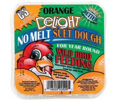 C&S 12529 11 3/4 Ounce Orange Suet Cake