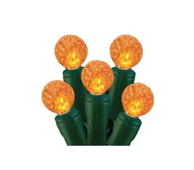 Hometown Holidays 2339/U14E320G G12 Led Orange Light Set 70Ct