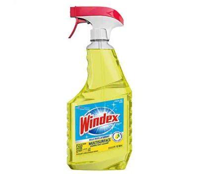 SC Johnson 70251 Windex Cleaner, 23 Ounce Spray Bottle, Liquid, Citrus, Yellow