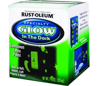Rust-Oleum 214945 Specialty Glow In The Dark Latex 1/2 Pint