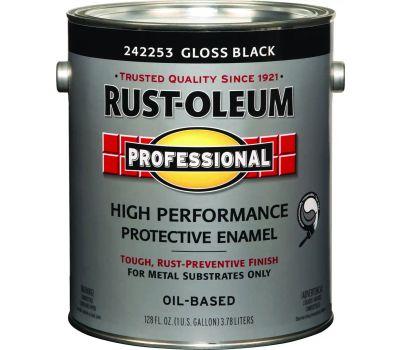 Rust-Oleum 242253 Professional High Performance VOC 100 Gloss Black Alkyd Enamel Gallon