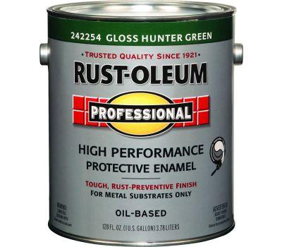 Rust-Oleum 242254 Professional High Performance VOC 100 Hunter Green Gloss Alkyd Enamel Gallon