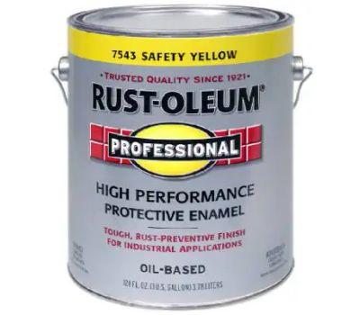 Rust-Oleum 242258 Professional High Performance VOC 100 Safety Yellow Gloss Alkyd Enamel Gallon