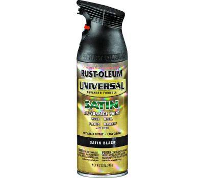 Rust-Oleum 245197 Universal Any Surface Any Angle Black Satin Spray
