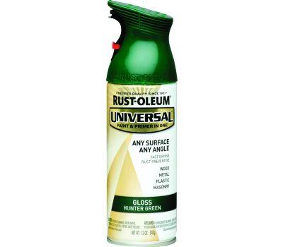 Rust-Oleum 245214 Universal Any Surface Any Angle Hunter Green Gloss 12 Ounce Spray