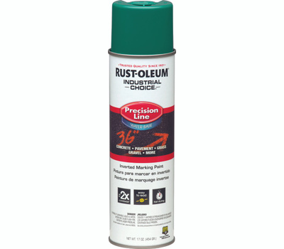 Rust-Oleum 1834838 Industrial Choice Safety Green Precision Line Marking 17 Ounce