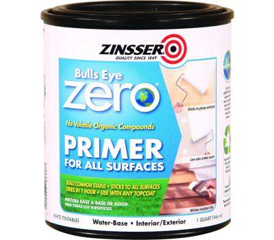 Zinsser 249019 Bulls Eye Zero Primer Sealer For All Surfaces Water-Based Quart