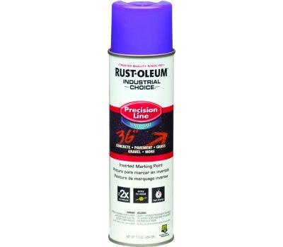 Rust-Oleum 1869838 Industrial Choice Fluorescent Purple Precision Line Marking 17 Ounce