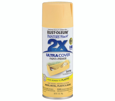Rust-Oleum 249064 Painters Touch 2X Ultra Cover Paint + Primer Summer Squash Satin Spray