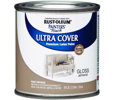 Rust-Oleum 1994730 Painters Choice Ultra Cover Latex Enamel Almond Gloss 1/2 Pint