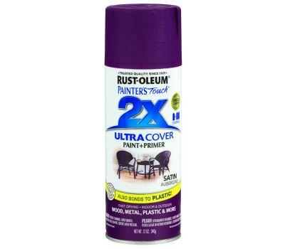 Rust-Oleum 257419 Painters Touch 2X Ultra Cover Paint + Primer Aubergine Satin Spray