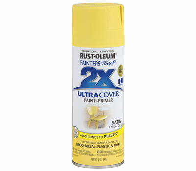 Rust-Oleum 263148 Painters Touch 2X Ultra Cover Paint + Primer Lemon Grass Satin Spray