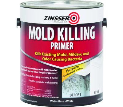 Zinsser 276049 White Mold Killing Primer Water-Based Gallon