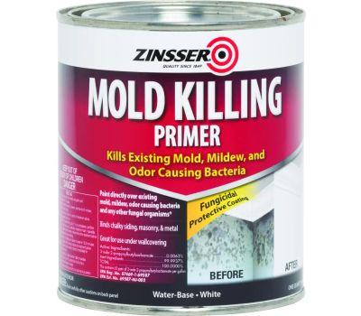 Zinsser 276087 White Mold Killing Primer Water-Based Quart