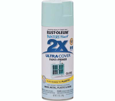 Rust-Oleum 283190 Painters Touch 2X Ultra Cover Paint + Primer Ocean Mist Gloss Spray