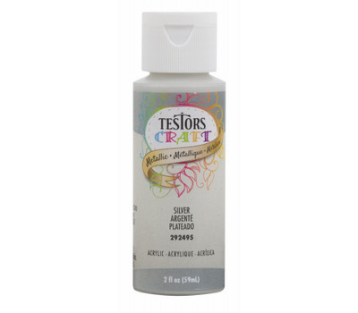 Testors 292495A Paint Craft Acrylic Metallic Silver 2 Ounce